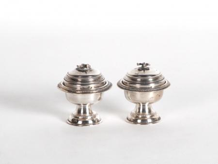 Pair of Sterling Silver Cellars - IB06544