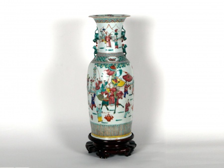 Large Canton Chinese Porcelain Vase - IB06661
