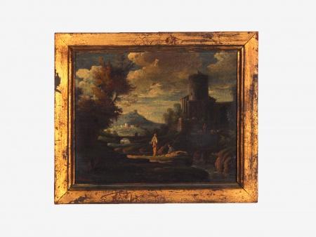 "Alfred Hubert: ""Landscape of Romantic Ruins"" - IB06701"