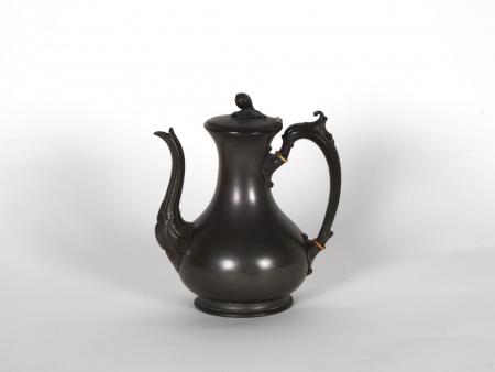 Antique Sheffield Pewter Teapot - IB06718