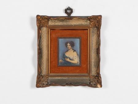 19th Century French Miniature on Rhodoïd - IB06737