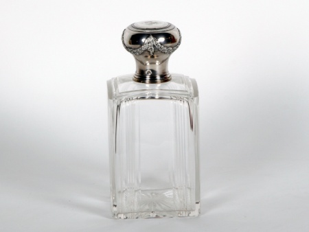 Large Silver Mounted Boulenger Perfume Bottle - IB06862