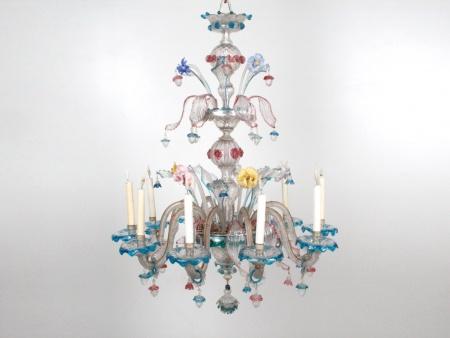 Murano Glass Chandelier. Turning 20th Century - IB06961
