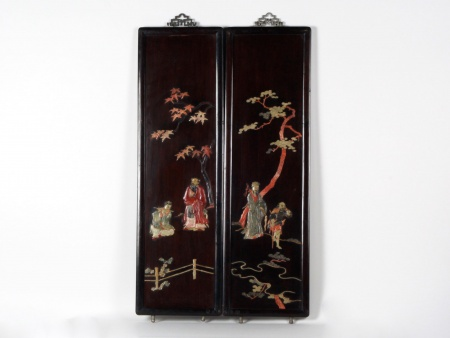 Pair of Chinese Panels. First Half of the 20th Century - IB06971