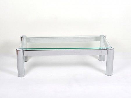 Chromed Stainless Steel Coffee Table - IB07192