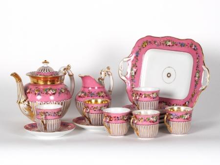 19th Century Tea set in pink porcelain - IB07197