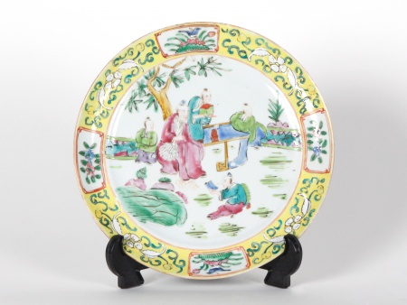 Chinese plate in Canton porcelain. 19th century. - IB07198