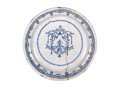 Large Moustiers Ceramic Platter - IB07206