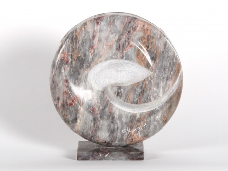 Modern marble sculpture. Signed Ghanem. - IB07208