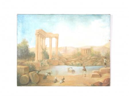 لوحة زيتية على قماش للفنان حبيب خوري - IB07273