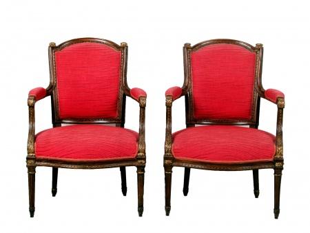 Pair of Louis XVI Style Armchairs - IB07437