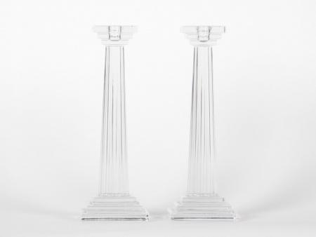 Pair of Rogaska Candlesticks - IB07482