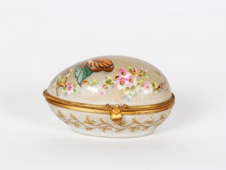Limoges Camille Le Tallec Egg Trinket Box - IB07505