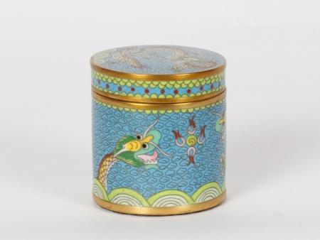 Cloisonné Enamel Chinese Opium Box - IB07509