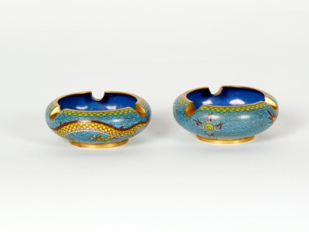 Cloisonné Enamel Chinese Ashtrays - IB07510