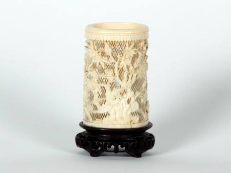 Chinese Ivory Bitong. Late 19th Century - IB07537