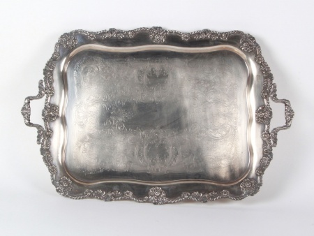 Sheffield Silver Co, Silver Plated Metal Tray - IB07576