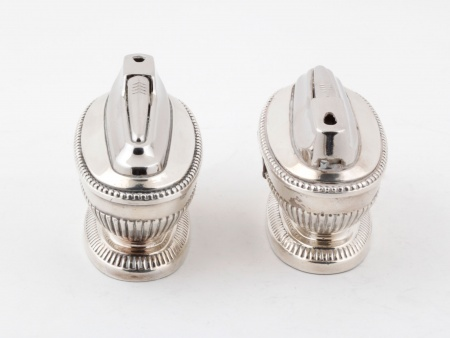 Pair of Silver Plated Metal Ronson Lighters - IB07580