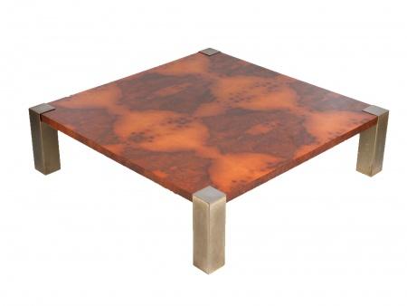 Table Basse Cidue en Bois et Cuivre - IB07612
