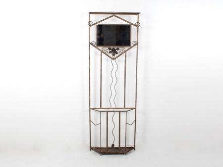 Art Nouveau Wrought Iron Coat Rack - IB07649