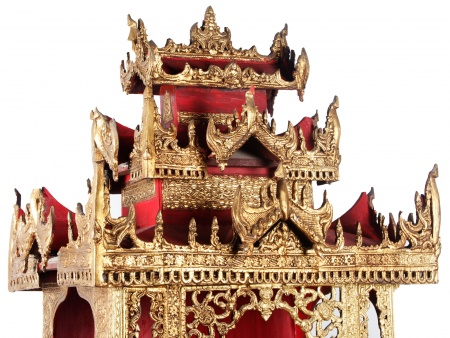 Chinese Pagoda Padouk Cabinet. Late 18th Century - IB07662