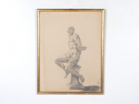 """Pencil Skech: """"Slave"""". Strasbourg - IB07687"""