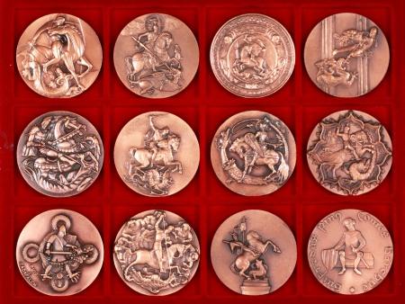 Twelve Saint George Bronze Medals - IB07763