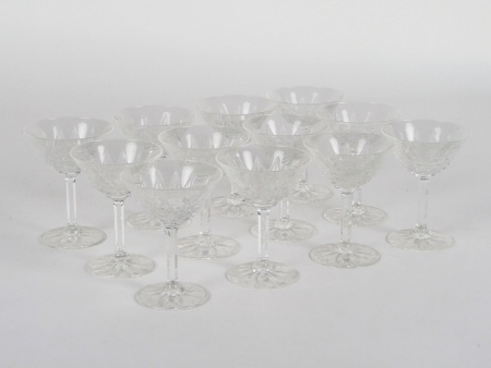 Twelve Saint Louis Champagne Glasses - IB07996