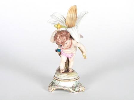 "Figurine Meissen ""Cupidon portant une grand lis"" - IB08068"