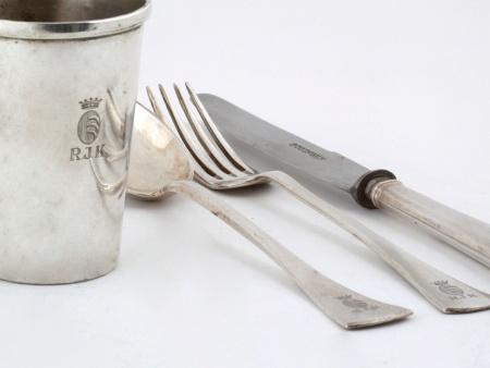 Sterling Silver Solitaire Set by Gustav Sander - IB08108