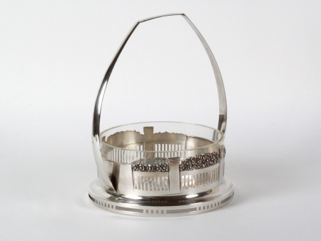 Large Sterling Silver Basket by Alfred Pollak - IB08125