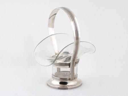 Sterling Silver Basket by E. Riemer - IB08126
