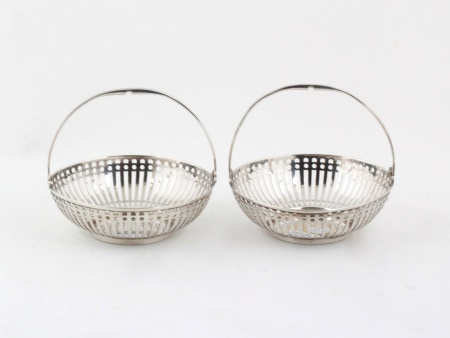 Pair of Sterling Silver Baskets by Hukin & Heath Ltd - IB08130