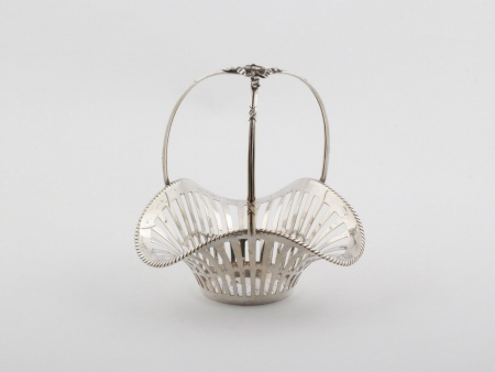 19th Century Sterling Silver Basket - IB08132