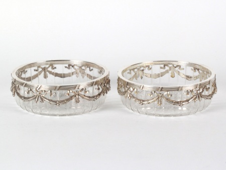 Pair of Austrian Sterling Silver Candy Bowls - IB08135