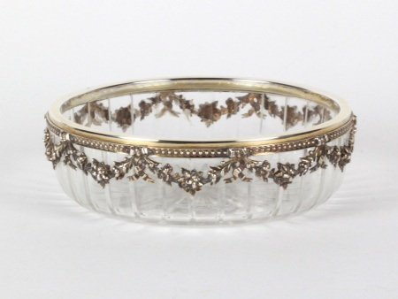 Silver Mounted Crystal Bowl by Jakob Matzner - IB08136