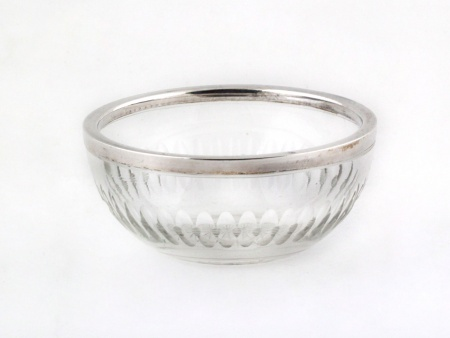 Crystal and Sterling Silver Bonbon Dish - IB08142