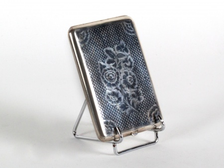 Niello Silver Austrian Cigarette Box - IB08187