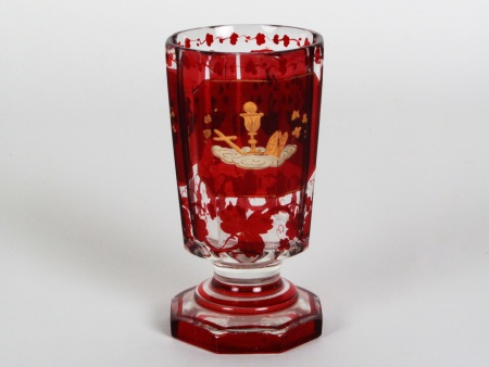 Red Bohemian Crystal Chalice - IB08287