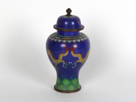 Chinese Cloisonné Enamel Covered Jar - IB08317