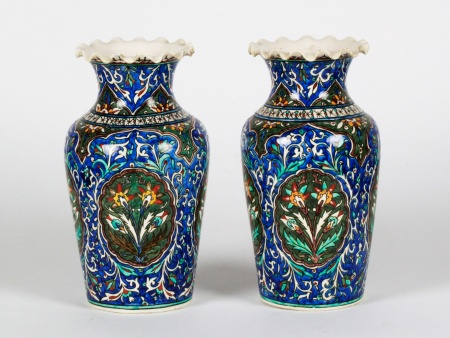 Pair of 19th Century Qajar Vases - IB08387