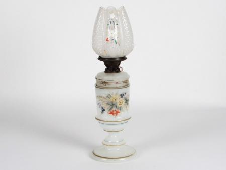 19th Century Opaline Oil Lamp - IB08475