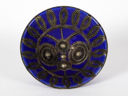 Moroccan Enameled Ceramic Centerpiece - IB08516