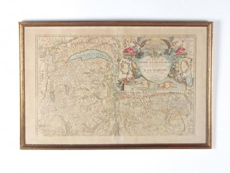 """""""Les Etats de Savoye et de Piemont"""" Map by Jean Baptiste Nolin - IB08554"""