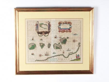 """17th century map """"Moluccae Insulae Celeberrimae"""" - IB08559"""