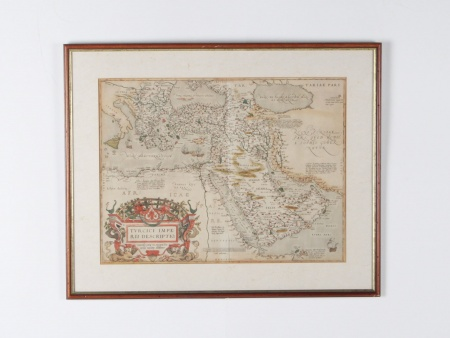 "Map From the 16th Century by Ortelius ""Turcici Imperii Descriptio"" - IB08565"