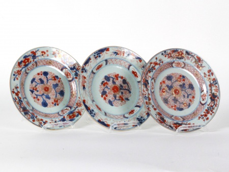 Three 18th Century Imari Plates - IB08586