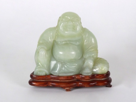 "Serpentine Sculpture ""Happy Buddha"" - IB08601"