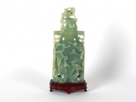 Chinese Covered Jade Vase - IB08605