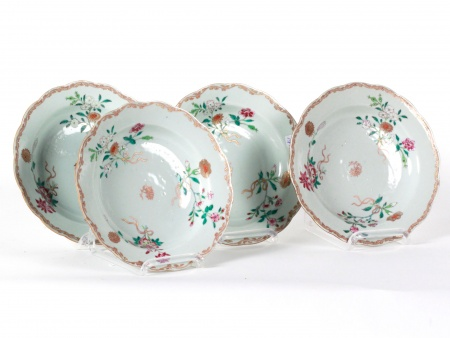 Four 18th Century Qianlong Chinese Plates - IB08608